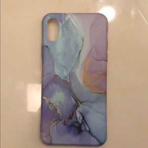 iPhone X Marbled Silicon Case